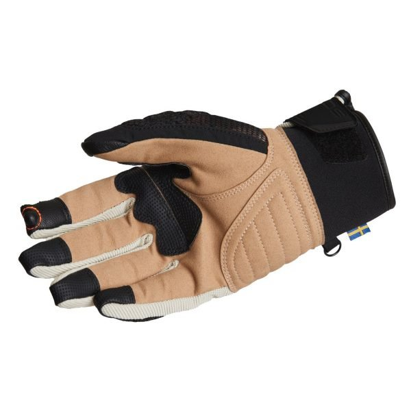Lindstrands Nyhusen Gloves - Black/Khaki colour, palm