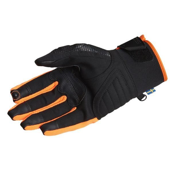 Lindstrands Nyhusen Gloves - Black/Orange colour, palm
