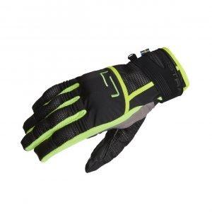 Lindstrands Nyhusen Gloves - Black/Yellow colour, Motorcycles Clothing Shop, UK