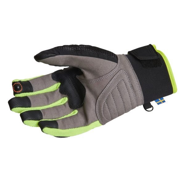 Lindstrands Nyhusen Gloves - Black/Yellow colour, palm