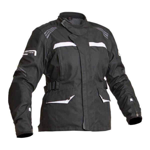 Lindstrands Granberg Women Textile Jacket - Black/White colour