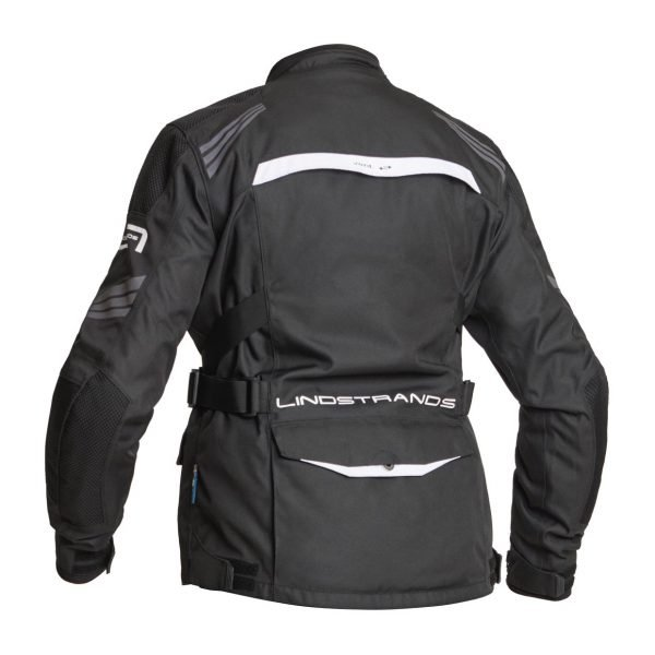 Lindstrands Granberg Women Textile Jacket - Black/White colour, back view