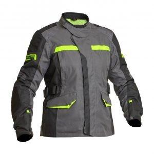 Lindstrands Granberg Women Textile Jacket - Grey/Yellow colour, Motorcycles Clothing Shop, London