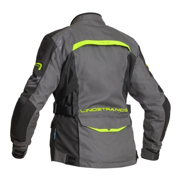 Lindstrands Granberg Women Textile Jacket - Grey/Yellow colour, back view