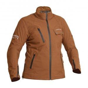 Lindstrands Kvien Woman Textile Jacket - Brown colour