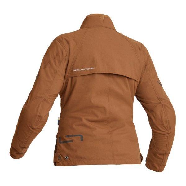 Lindstrands Kvien Woman Textile Jacket - Brown colour, Back, London