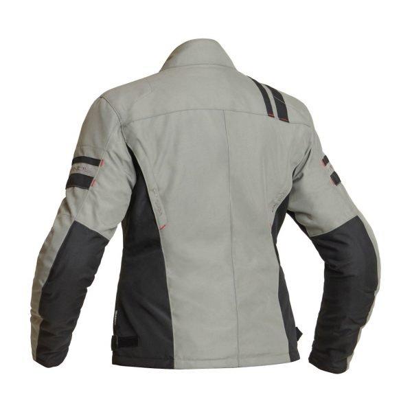 Lindstrands Liden Women Textile Jacket - Fog colour, back view, Motorbike Clothing Shop, UK