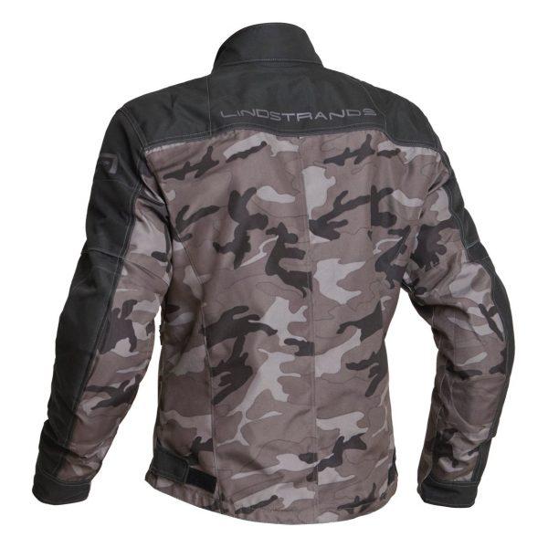 Lindstrands Lugnet Textile Jacket - Camo colour, back view