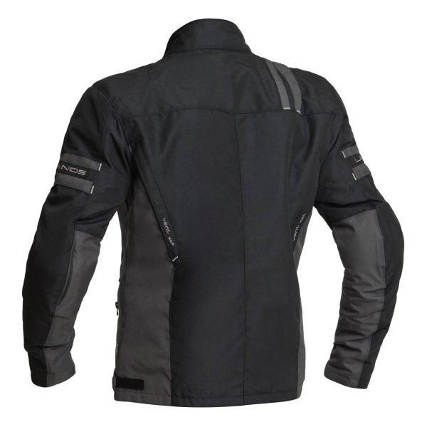 Lindstrands Lysvik Textile Jacket - Black colour, back view