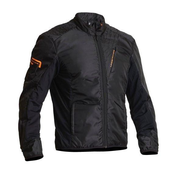 Lindstrands Sunne Textile Jacket - Black/Orange colour lining