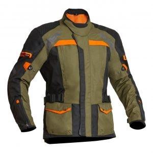 Lindstrands Transtrand Textile Jacket - Green/Orange colour