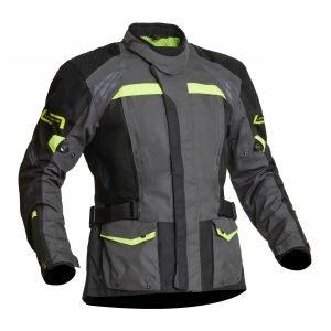 Lindstrands Transtrand Textile Jacket - Grey/Yellow colour