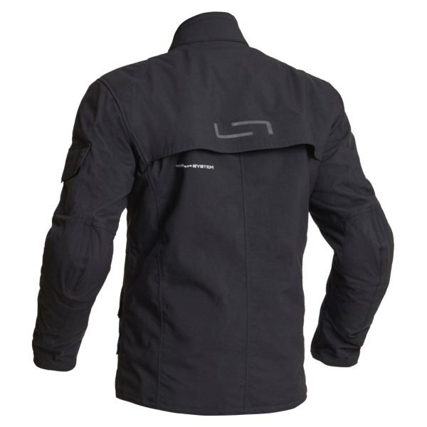 Lindstrands Tyfors Textile Jacket - Black colour, back