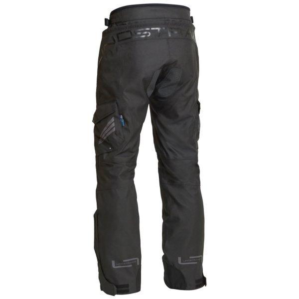 Lindstrands Berga Textile Pants - Black colour, back view, Chelsea Motorcycle Clothing Shop