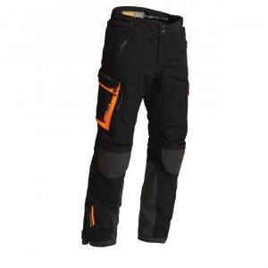 Lindstrands Sunne Textile Pants - Black/Orange colour