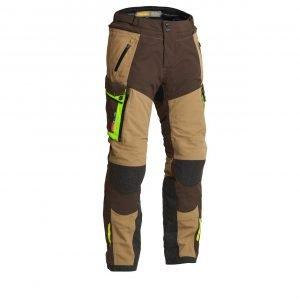 Lindstrands Sunne Textile Pants - Brown/Yellow colour, Motorcycles Clothing Shop, UK