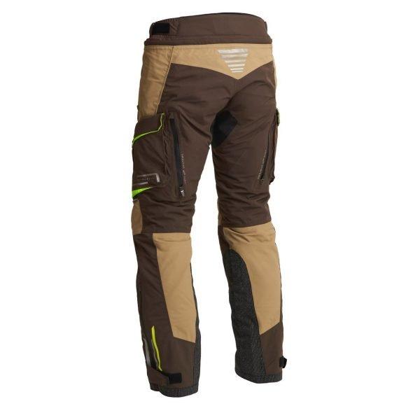 Lindstrands Sunne Textile Pants - Brown/Yellow colour, rear view