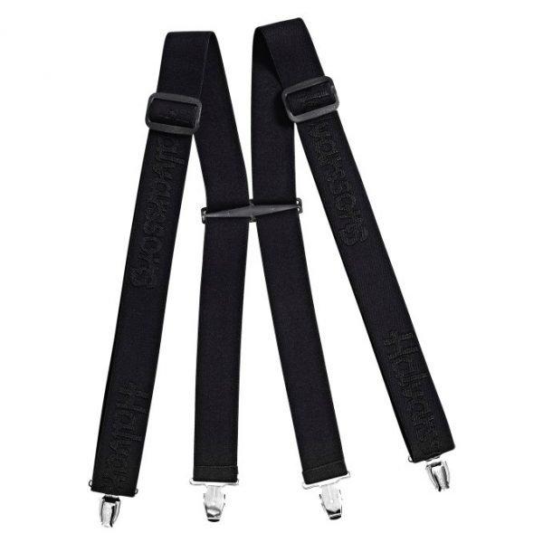 Lindstrands Sunne Textile Pants Braces - Black colour, Chelsea, UK