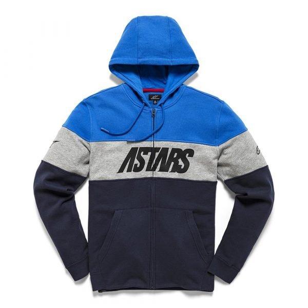 Alpinestars Grupo Zip Fleece - Blue/Navy colour, Chelsea Motorbikes