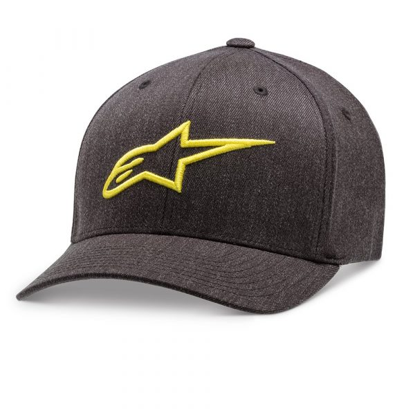 Alpinestars Ageless Curve Hat - Charcoal Heather/Hi Vis Yellow colour, Scooter Clothing