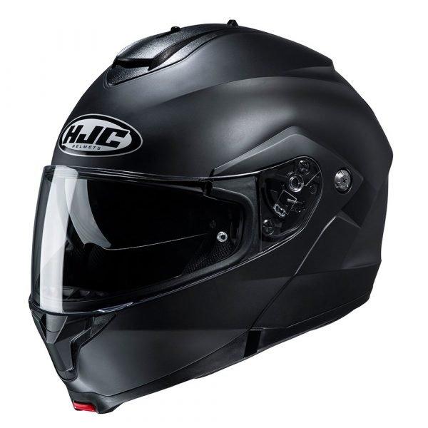 HJC C91 Helmet - Matt Black colour, Chelsea Motorcycles