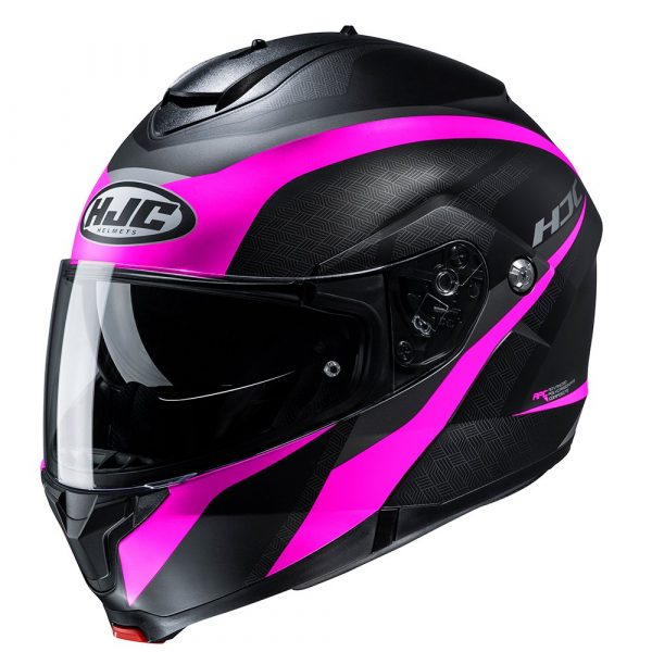 HJC C91 Helmet - Taly Pink colour, Chelsea Motorcycles Group Shop, London
