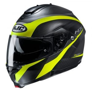 HJC C91 Helmet - Taly Yellow/Black colour, Motorcycles Clothing, Chelsea, UK