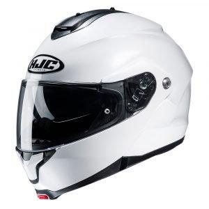 HJC C91 Helmet - White colour, Chelsea Motorcycles Clothing, London, UK