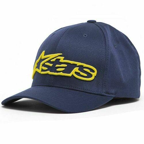 Alpinestars Blaze Flexfit Hat - Navy/Yellow colour, UK