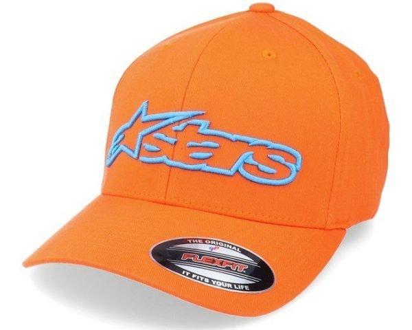 Alpinestars Blaze Flexfit Hat - Orange/Blue colour