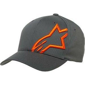 Alpinestars Corp Shift 2 Flexfit Hat - Charcoal/Orange colour
