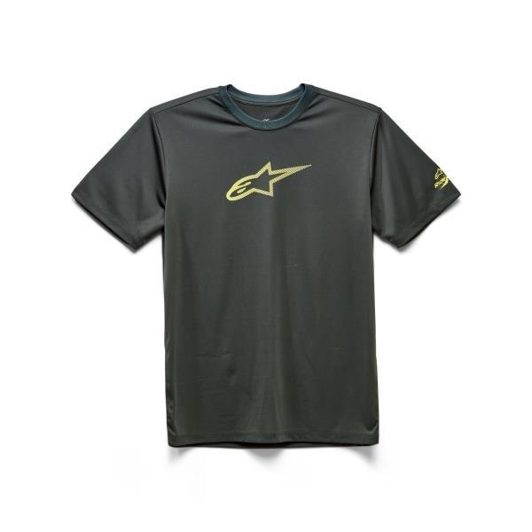 Alpinestars Tech Ageless Performance T-Shirt - Spruce (Olive Heather/Black) colour