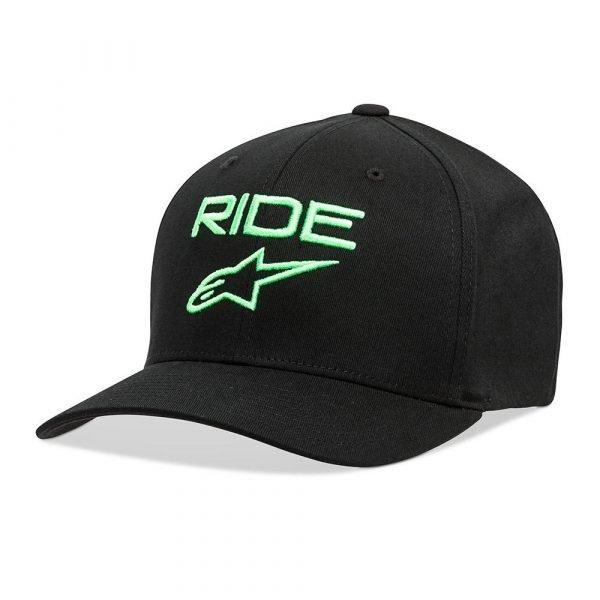 Alpinestars Ride 2.0 Hat - Black & Green colour - MCS