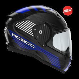 Roof RO200 Carbon Helmet - Speeder Black/Blue colour, London
