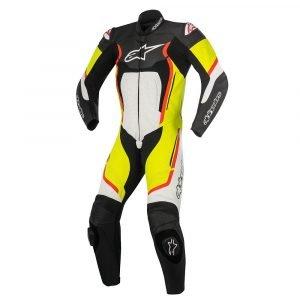 Alpinestars Motegi v2 1 Piece Suit - Black/White/Yellow/Red colour