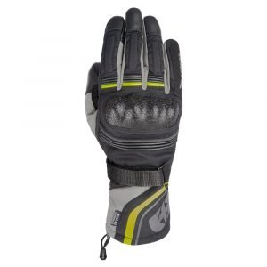 Oxford Montreal 4.0 MS Dry2Dry Gloves - Black/Grey/Fluo colour, Scooter Clothing