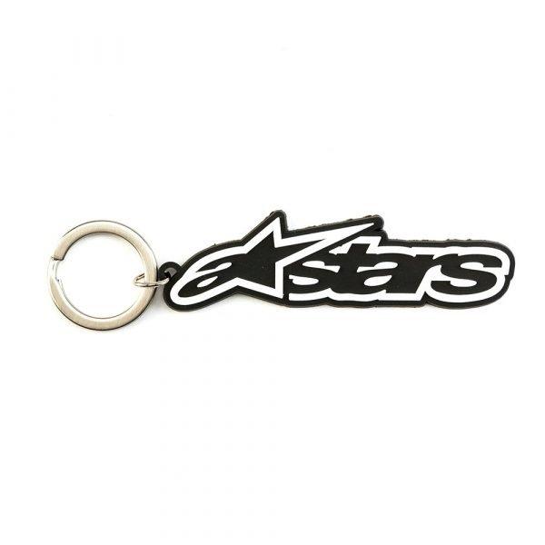 Alpinestars Blaze Key Fob - Black/White colour, Motorbike Clothing Shop