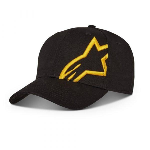 Alpinestars Corp Snap 2 Hat - Black/Gold colour
