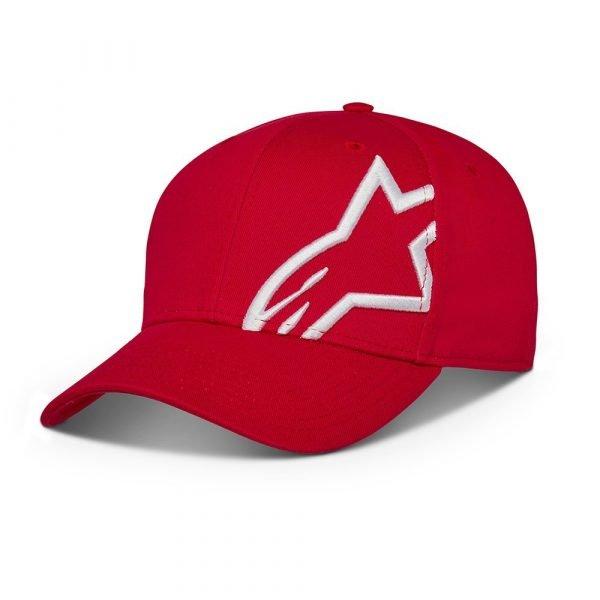 Alpinestars Corp Snap 2 Hat - Red/White colour, UK