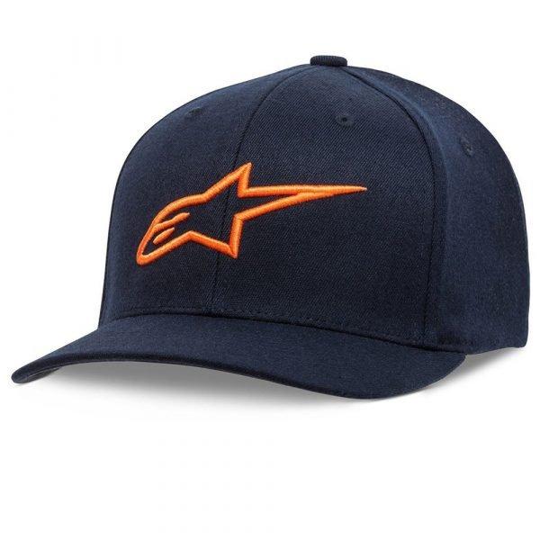 Alpinestars Corp Snap 2 Hat - Navy/Orange colour, London