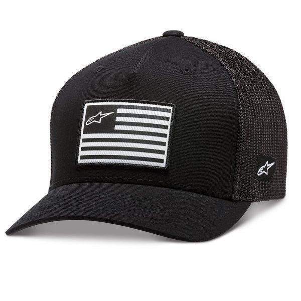 Alpinestars Flag Snapback Hat - Black colour, CMG, Chelsea