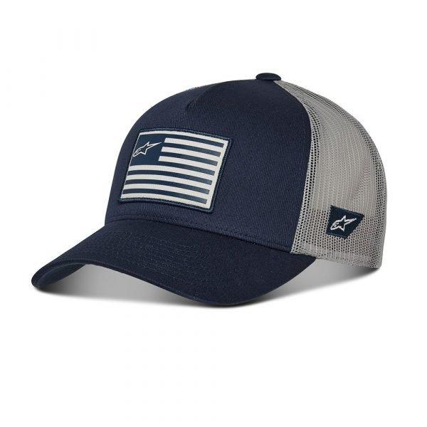 Alpinestars Flag Snapback Hat - Navy/Grey colour, CMG
