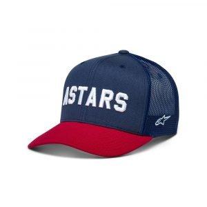 Alpinestars Well Said Trucker Hat - White/Navy/Red colour, Chelsea