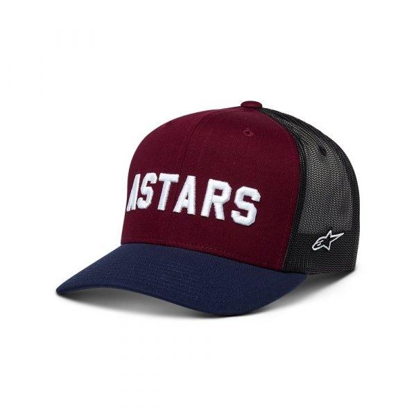 Alpinestars Well Said Trucker Hat - Maroon/White colour, MCS