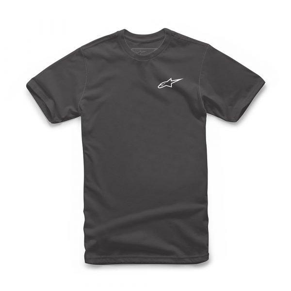 Neu Alpinestars Ageless Classic T-Shirt - Charcoal Heather/White colour