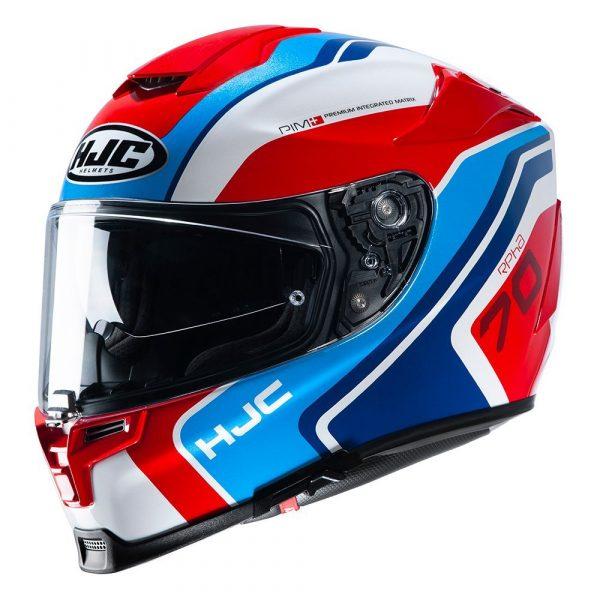 HJC RPHA 70 Kroon Helmet - White/Red/Blue colour