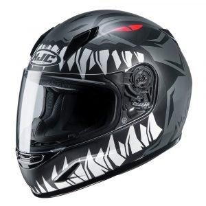 HJC CL-Y Zuky MC Helmet - Black/White colour