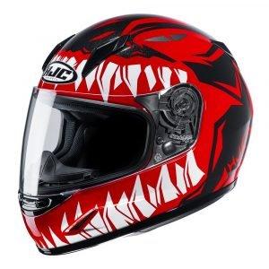HJC CL-Y Zuky MC Helmet - Red/White/Black colour, UK