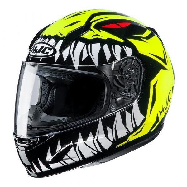 HJC CL-Y Zuky MC Helmet - Yellow/White/Black colour, Motorcycles Clothing Shop, London