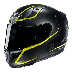 HJC RPHA 11 Jarban Helmet - Green colour, Chelsea Motorcycles Group